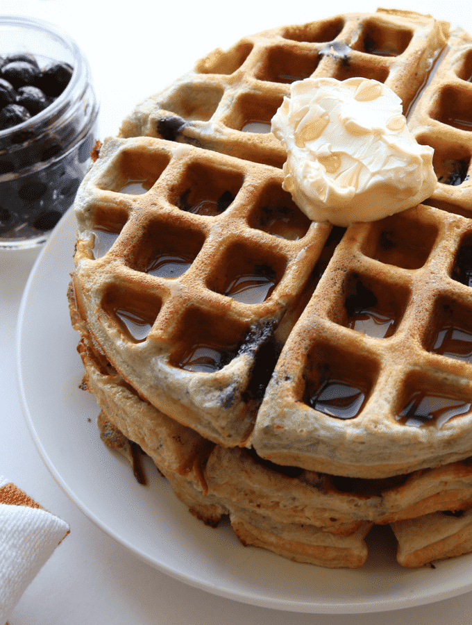 protein blueberry waffles