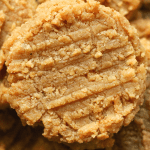 Keto Peanut Butter Cookies On A Plate.
