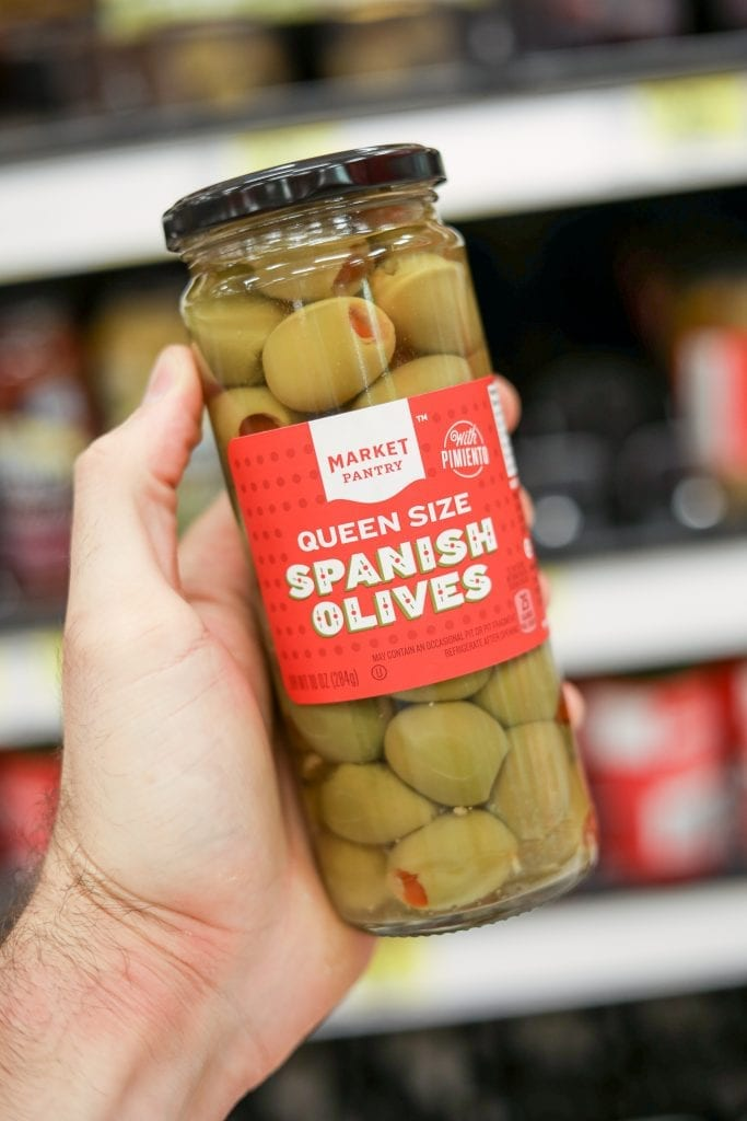 Market Pantry's Pimento Stuffed Spanish Olives are one of the Best keto snack ideas from Target.