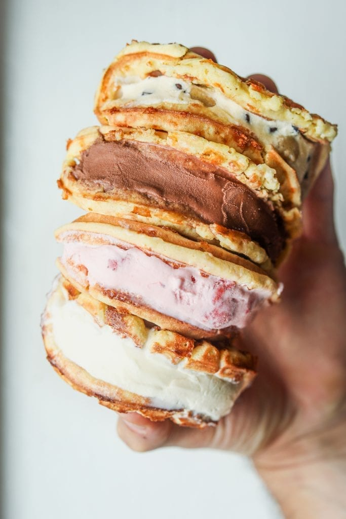 Keto Chaffle Ice Cream Sandwiches The Diet Chef