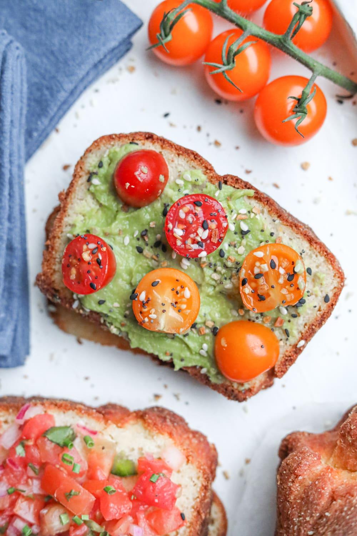 A slice of avocado toast