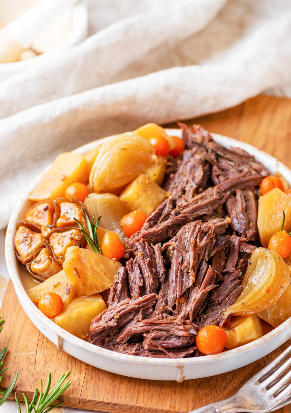 A keto pot roast on a serving platter.