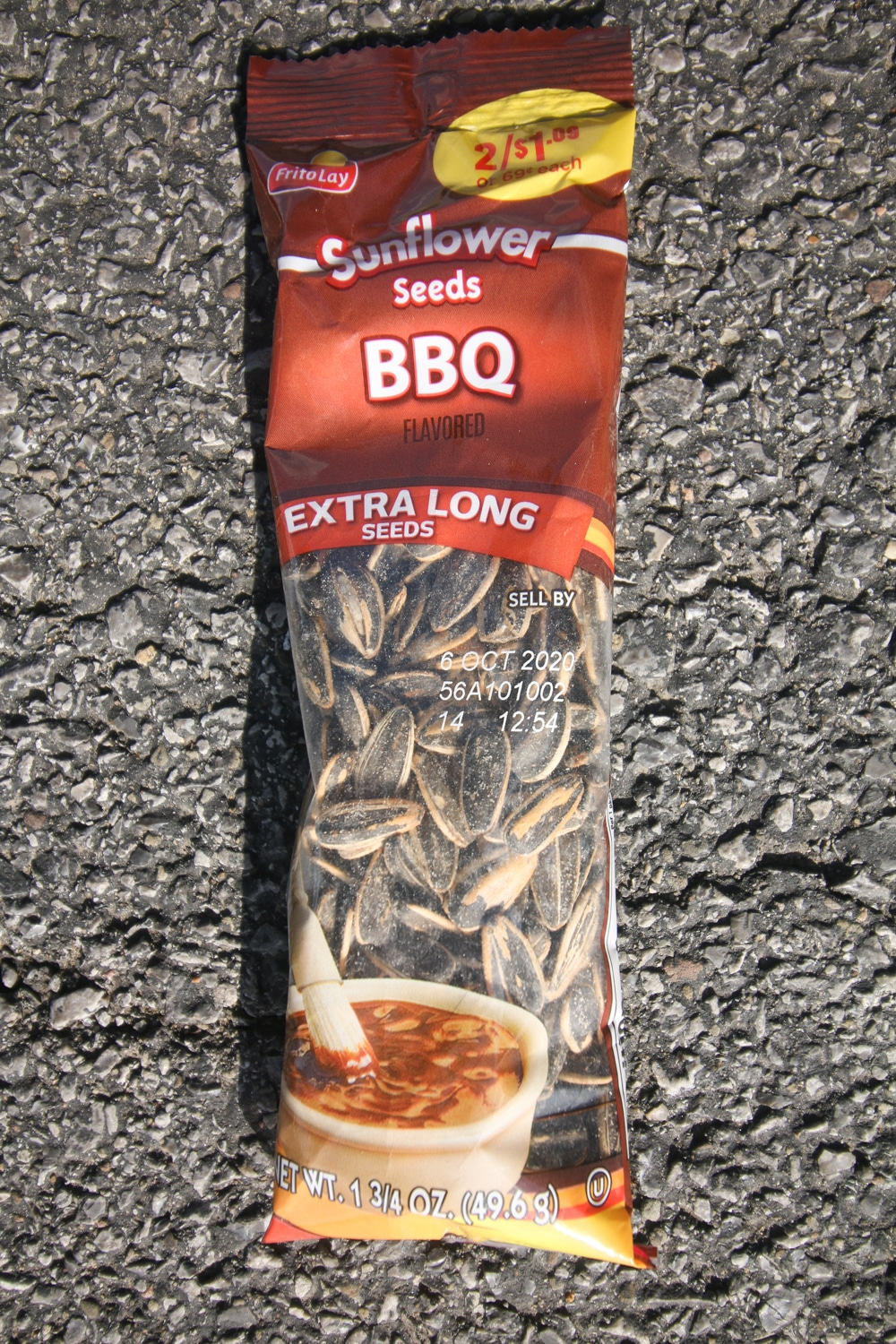 A package of bbq sunflower seeds.