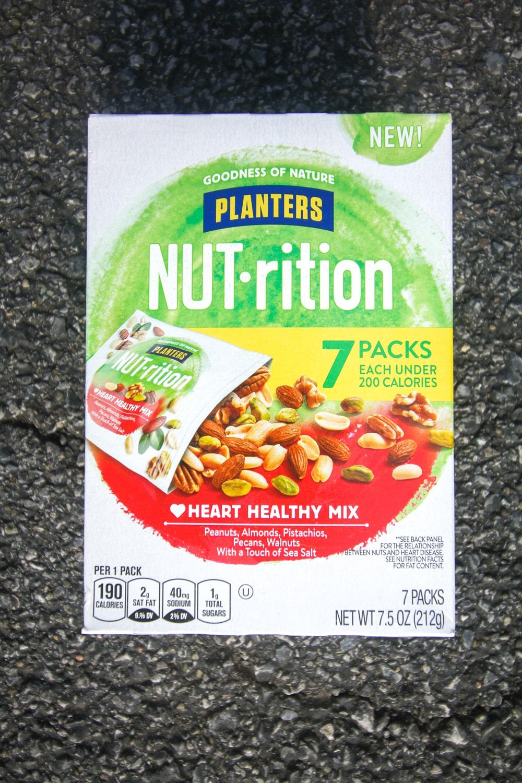 A box of Plantar's nut snack packs.