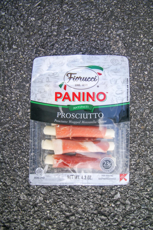 A package of mozzarella sticks wrapped in prosciutto.