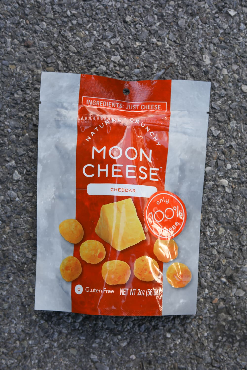 A bag of moon cheese.
