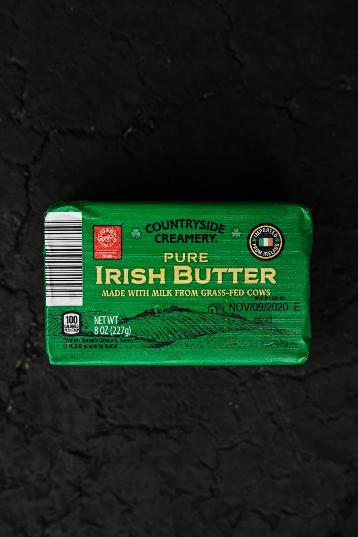 A brick of irish butter.