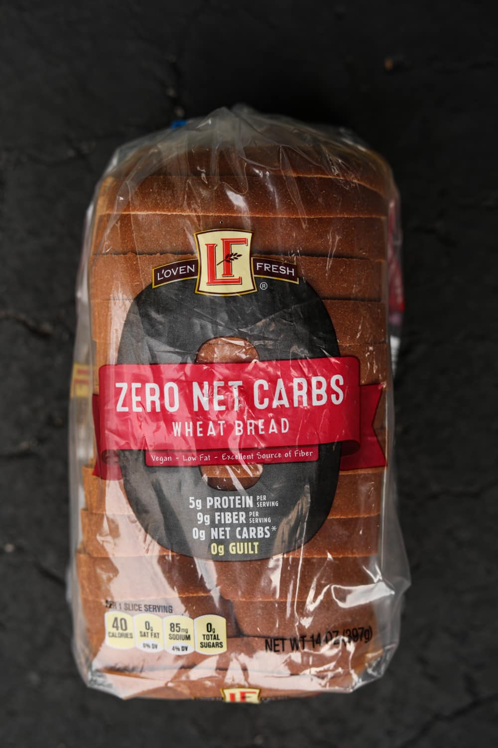 A loaf of keto wheat bread.